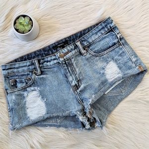 EUC Distressed Destroyed Forever 21 Jean Shorts 27
